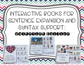 Interactive Books for Sentence Expansion and Syntax: Valentine Edition