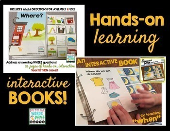 Interactive Books for WH- Questions BUNDLE!