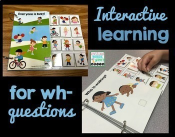 Interactive Books BUNDLE for WH- Questions