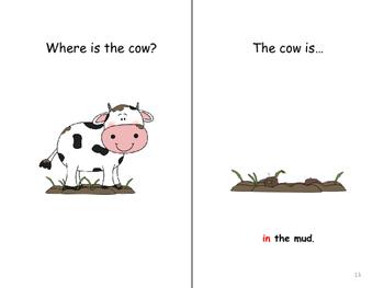 "Interactive Books in color & B/W Prepositions ""Where are the Animals?"""