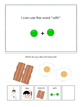 "Interactive Books to target the Prepositions ""with, for, t"