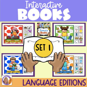 Interactive Books Set 1: with sequencing, basic directions and building language
