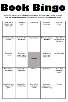 Interactive Booktalk Bingo