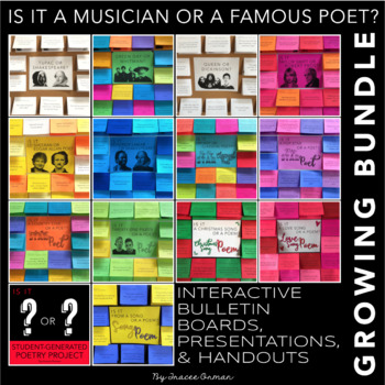 Interactive Bulletin Board Bundle: Is it a Musician or a Famous Poet?
