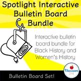 Black History and Women's History Interactive Bulletin Board Bundle