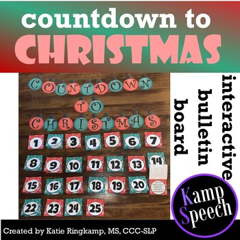 Interactive Bulletin Board: Countdown to Christmas
