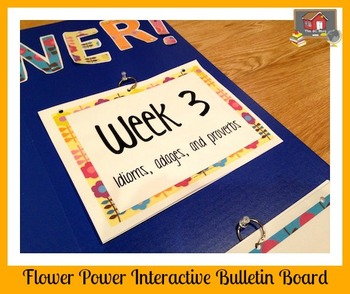 Interactive Bulletin Board:  Flower Power Figurative Language Word Play