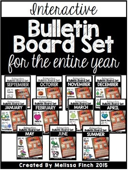 Interactive Bulletin Board Set FOR THE ENTIRE YEAR