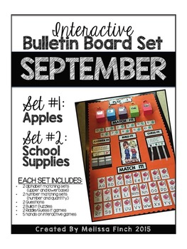 Interactive Bulletin Board Set- SEPTEMBER