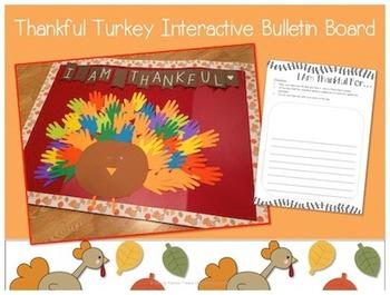Interactive Bulletin Board:  Thankful Turkey