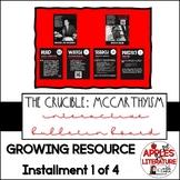 Interactive Bulletin Board The Crucible background on McCa