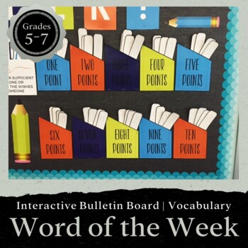 Interactive Bulletin Board: Word of the Week for 6th Grade