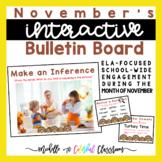 Interactive Bulletin Boards - November Literacy Posters