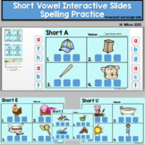 Interactive CVC Spelling Slides and PowerPoints for Distan