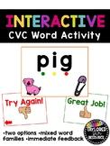 Interactive CVC Word Powerpoint Game Activity