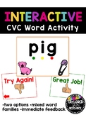 Interactive CVC Word Powerpoint Game Activity   Distance Learning
