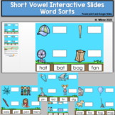 Short Vowel Interactive Slides and PowerPoint Distance Learning