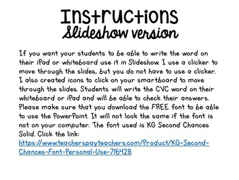 Interactive CVC Words Game