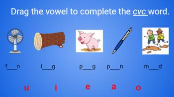 Google Classroom- Word Work: Interactive CVC Words MIni Lesson