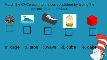 Google Classroom- Word Work: Interactive CVCe Words Mini Lesson
