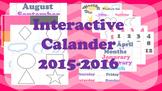 Interactive Calendar 2015-2016