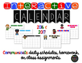 Interactive Calendar 2016 & 2017