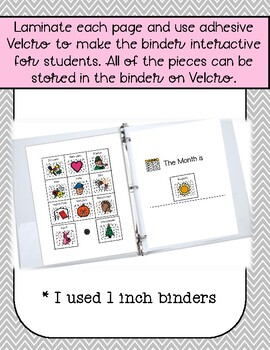 Interactive Calendar Binder - Visual Supports for Students with Autism