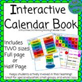 Interactive Calendar Book Full & Half Page Morning Meeting