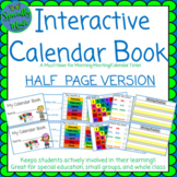 Interactive Calendar Book for Student morning meeting colors weather feelings