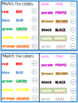 Interactive Calendar Book Teacher Student Edition colors morning meeting