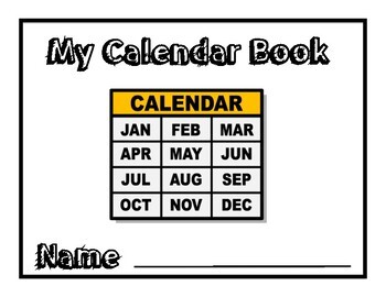Interactive Calendar Books -Autism-Circle Time Morning Meeting