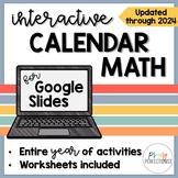 2020-2021 Interactive Calendar Math Program for GOOGLE Slides: Distance Learning