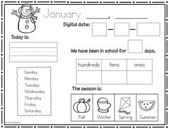 Interactive Calendar Notebook