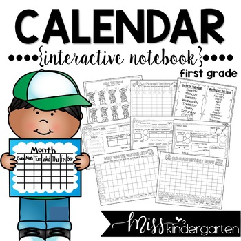 Interactive Calendar Notebook {FIRST GRADE}
