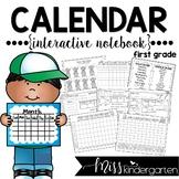 Interactive Calendar Notebook {FIRST GRADE}