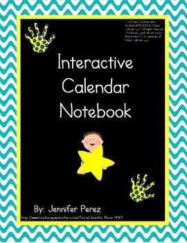 Interactive Calendar Notebook- Velcro Version