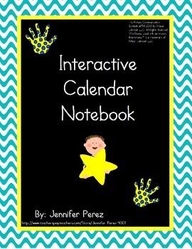 Interactive Calendar Notebook- Velcro Version