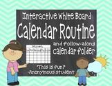 Interactive White Board Calendar Routine & Follow-Along Student Folder
