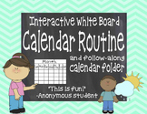 Interactive White Board Calendar Routine & Follow-Along Student Folder