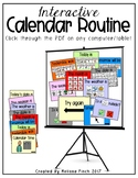 Interactive Calendar Routine for Students with Special Needs