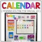 Interactive Calendar and Calendar Mat ( for the Special Needs Classroom )