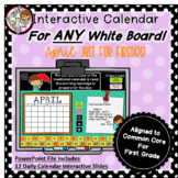 Interactive Calendar for First Grade - April - Works with