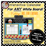 Interactive Calendar for First Grade - May - Works with AN