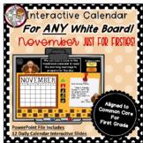 Interactive Calendar for First Grade -November - Works wit