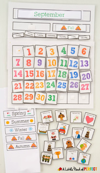 Interactive Calendar for Kids at School or Home