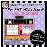 Interactive Calendar for Kindergarten - April - Works with