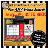 Interactive Calendar for Kindergarten -August - Works with