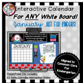 Interactive Calendar for Kindergarten - January - Works wi