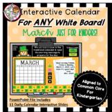Interactive Calendar for Kindergarten - March - Works with