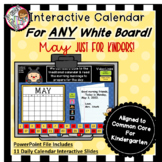 Interactive Calendar for Kindergarten - May - Works with A